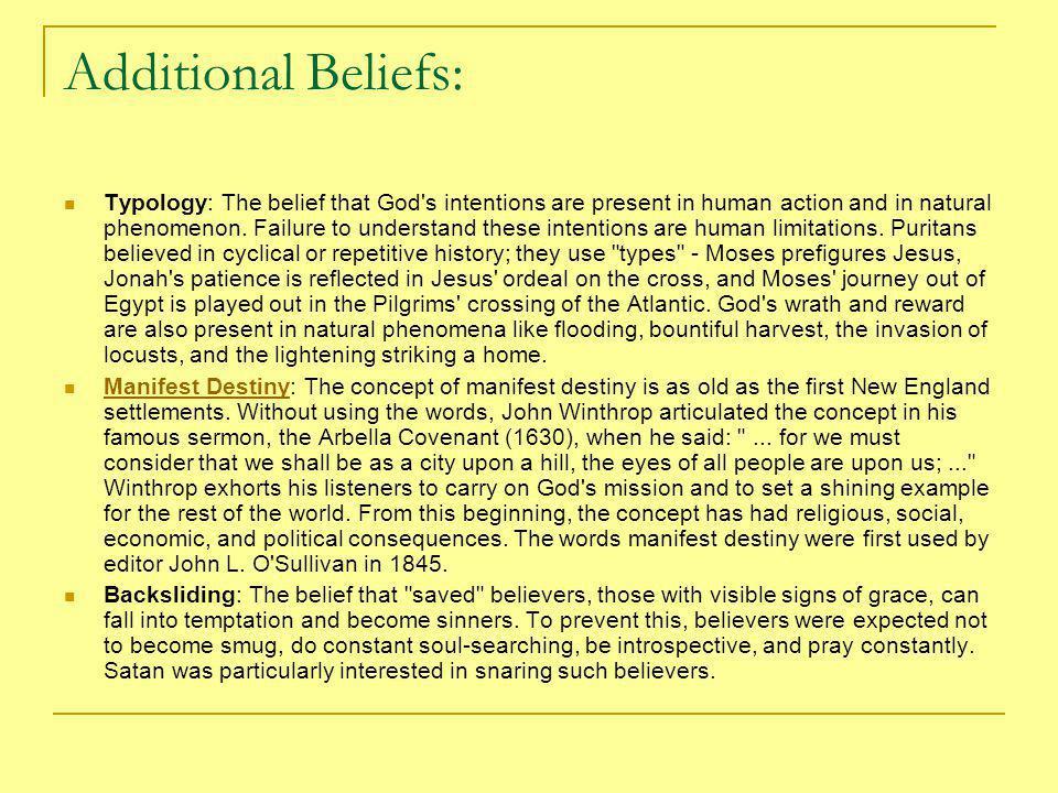 Additional Beliefs:
