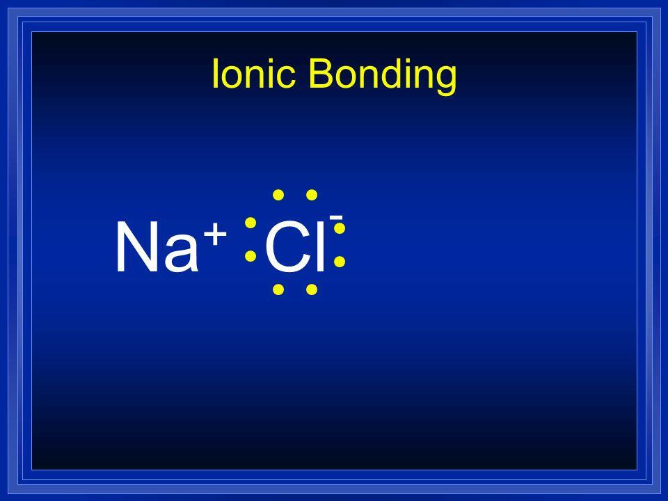 Ionic Bonding Na+ Cl-