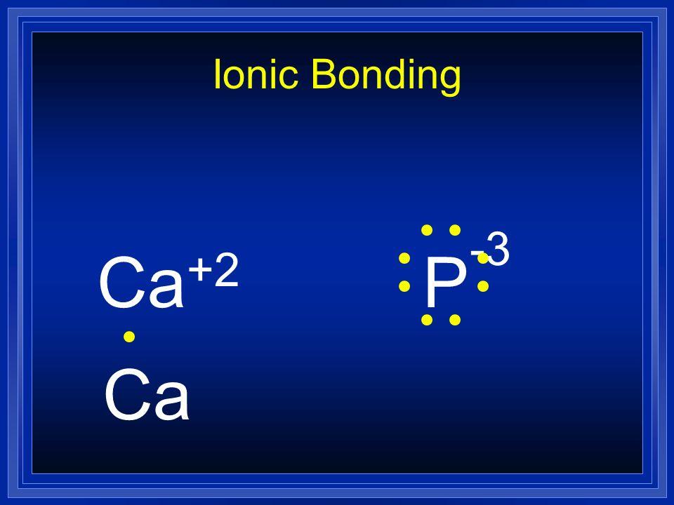 Ionic Bonding Ca+2 P-3 Ca