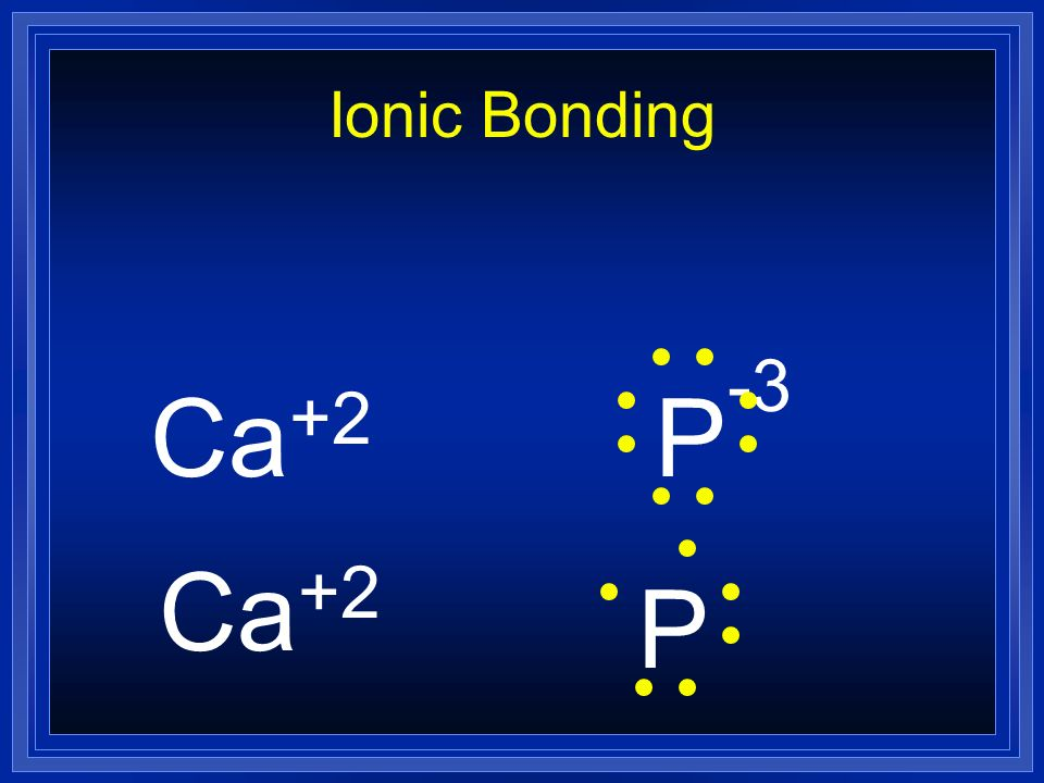 Ionic Bonding Ca+2 P-3 Ca+2 P