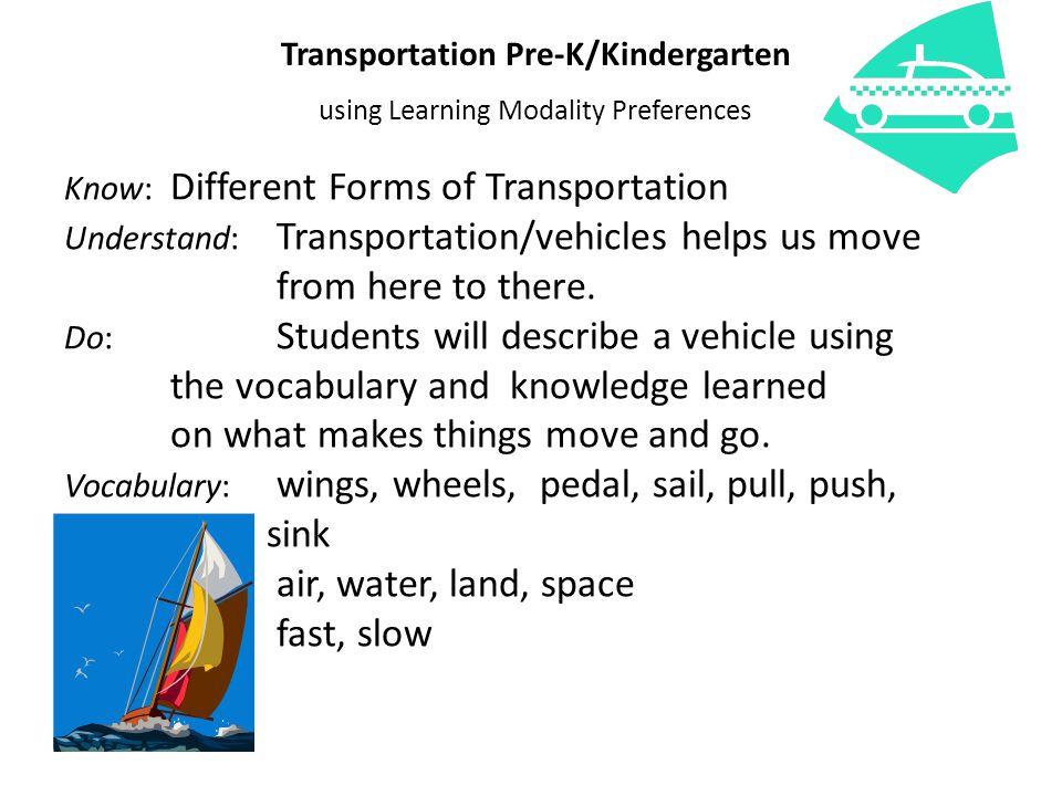 Transportation Pre-K/Kindergarten