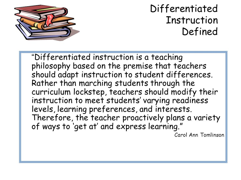 Differentiated Instruction Defined