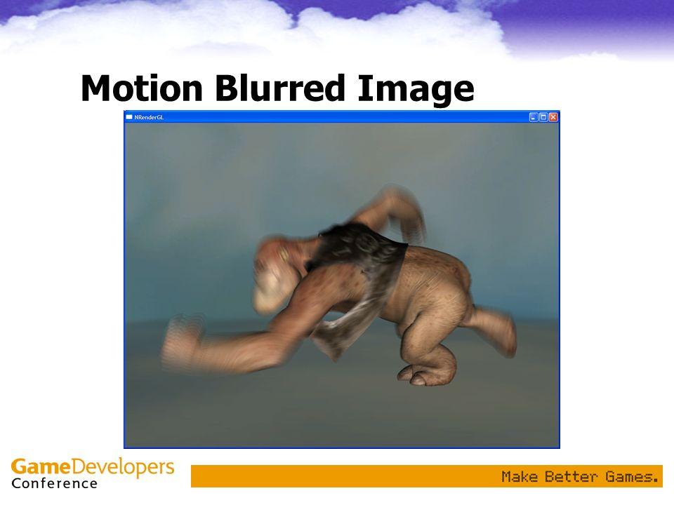 Motion Blurred Image