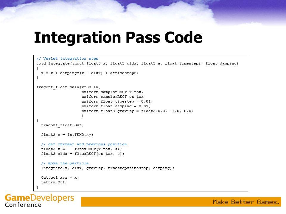 Integration Pass Code