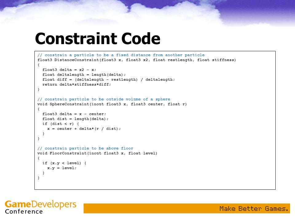 Constraint Code