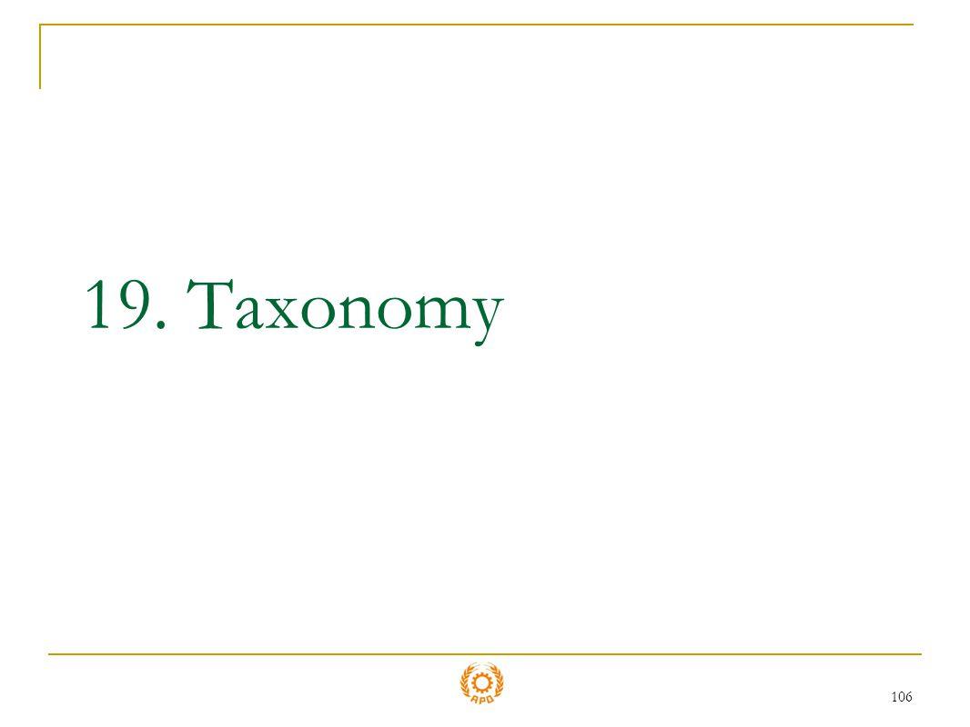 19. Taxonomy