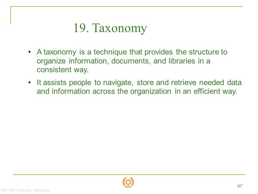 Taxonomy 19. Taxonomy.