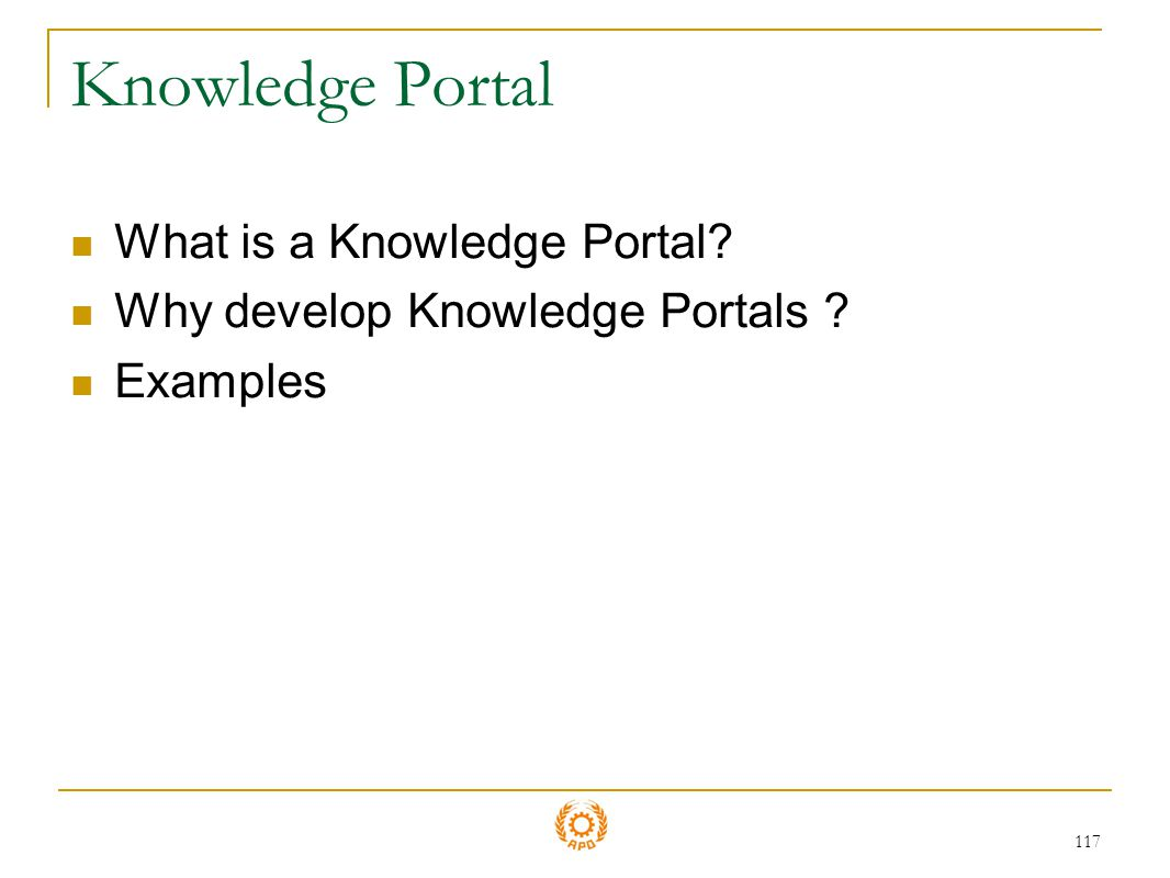 Knowledge Portal What is a Knowledge Portal