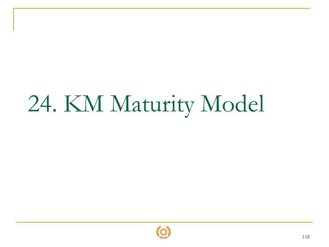 24. KM Maturity Model