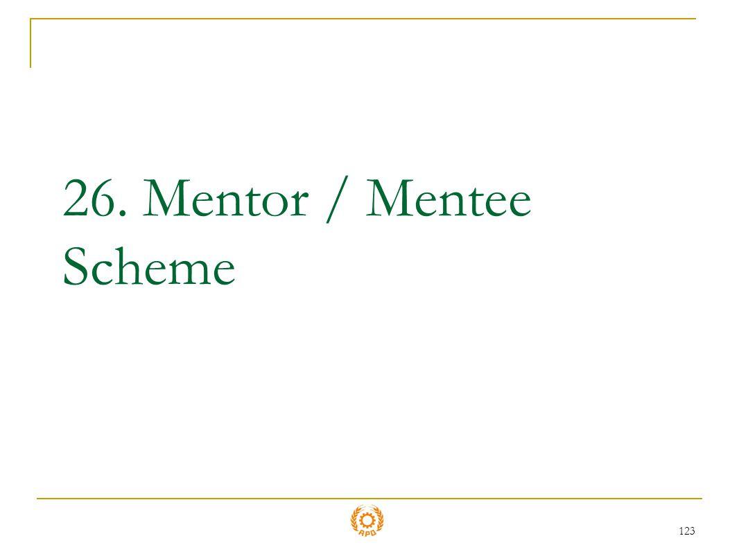 26. Mentor / Mentee Scheme