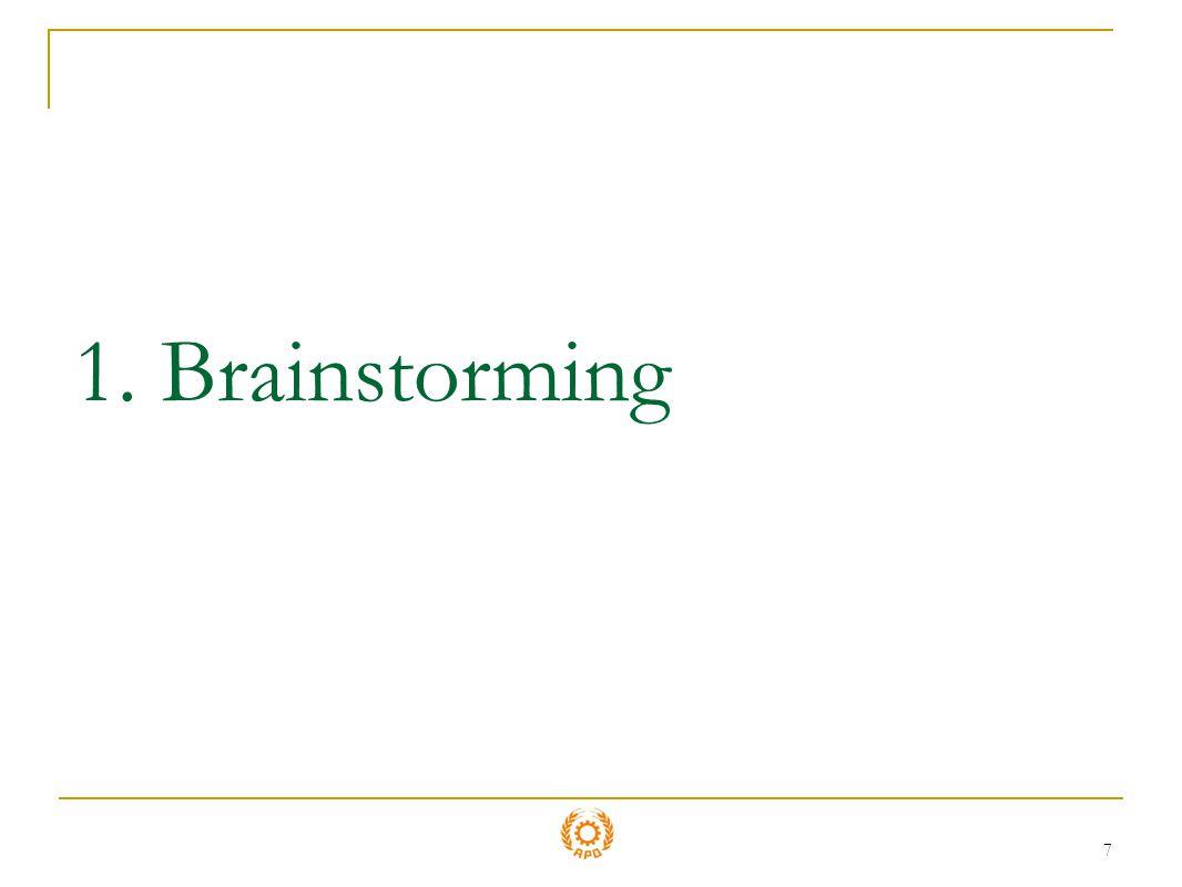 1. Brainstorming