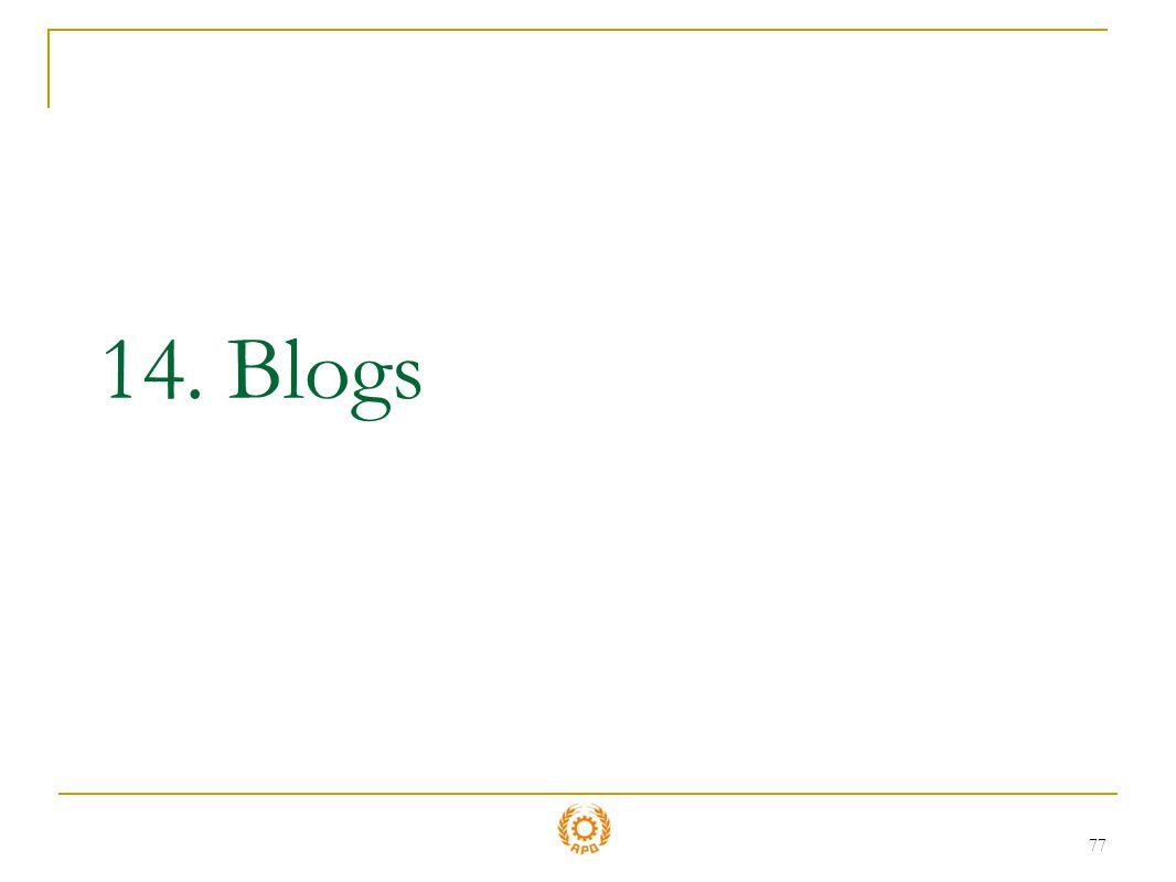 14. Blogs