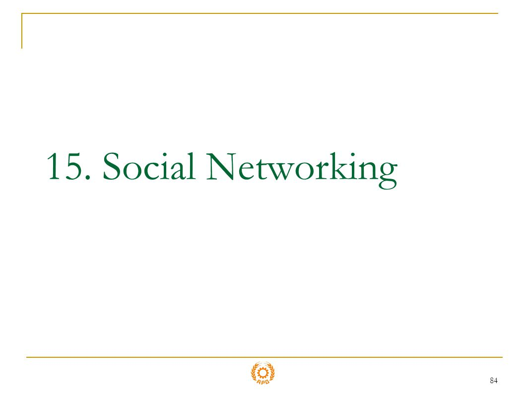 15. Social Networking
