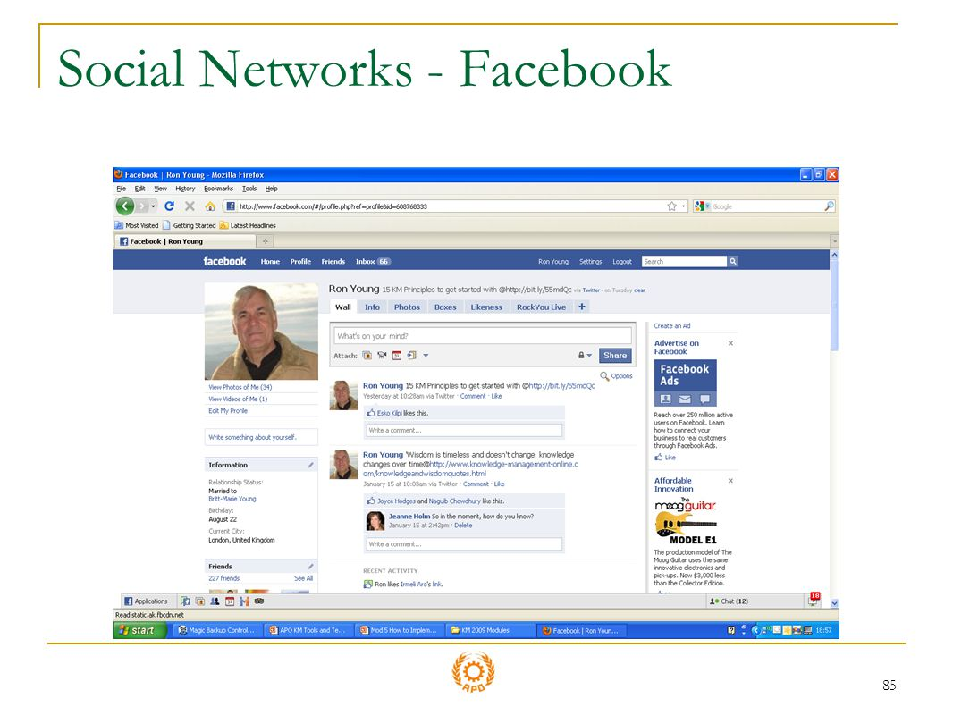 Social Networks - Facebook