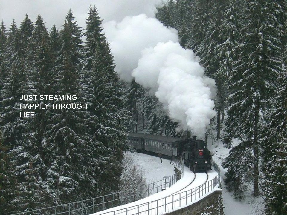 JUST STEAMING HAPPILY THROUGH LIFE