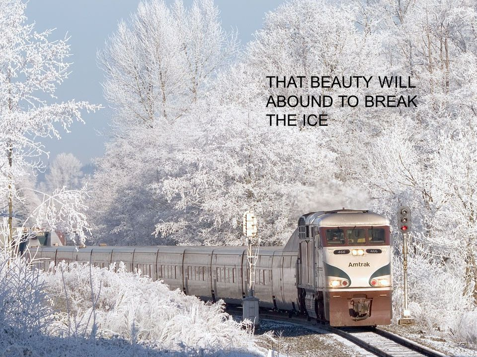 THAT BEAUTY WILL ABOUND TO BREAK THE ICE