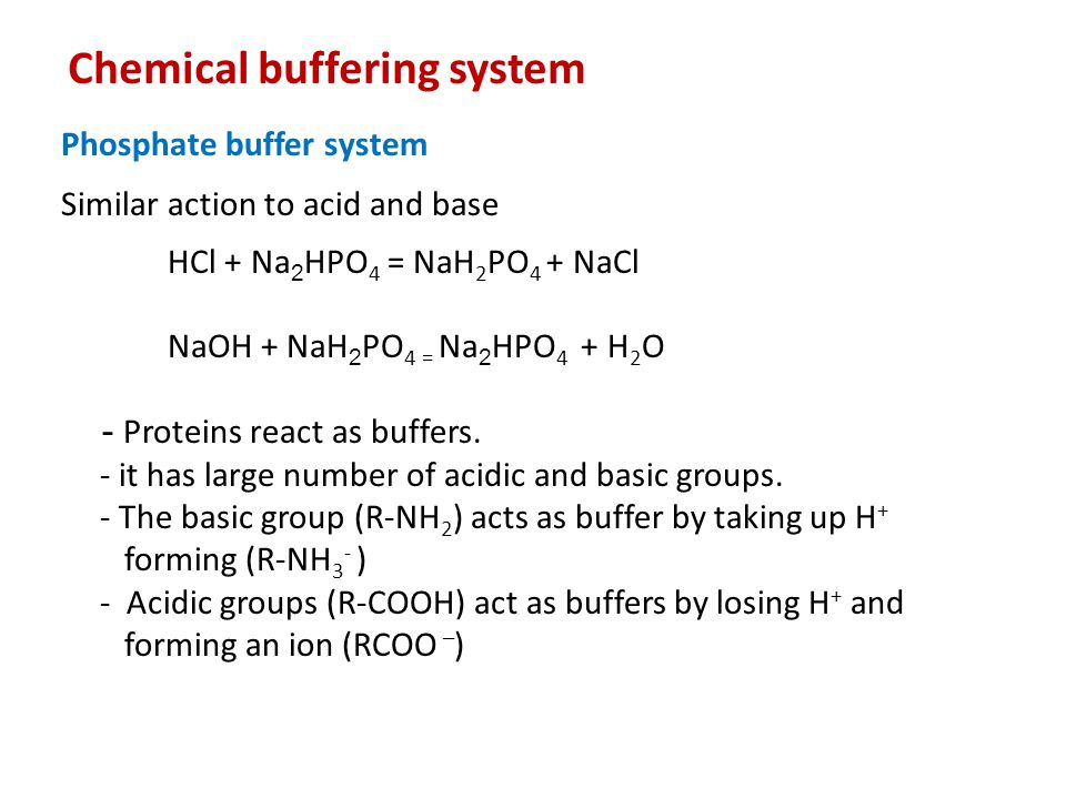 Chemical buffering system