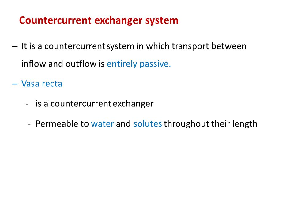 Countercurrent exchanger system