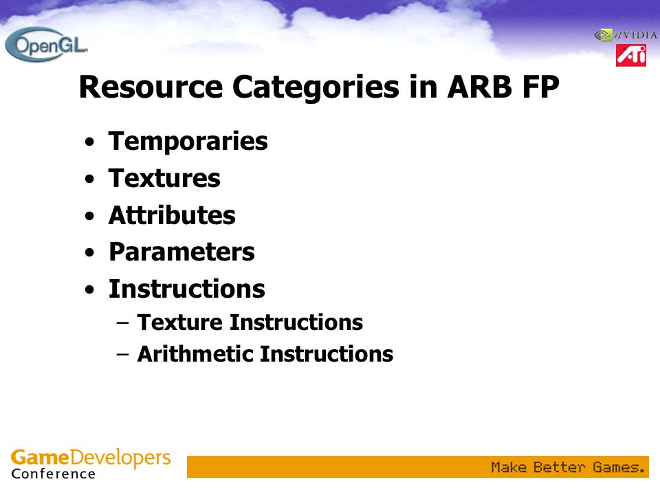 Resource Categories in ARB FP