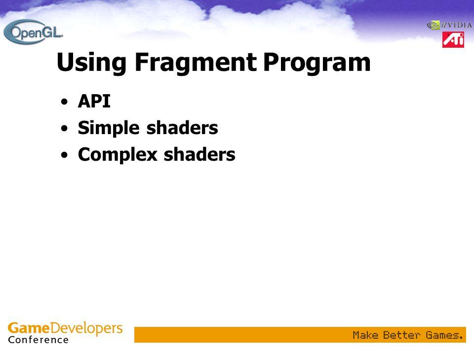 Using Fragment Program