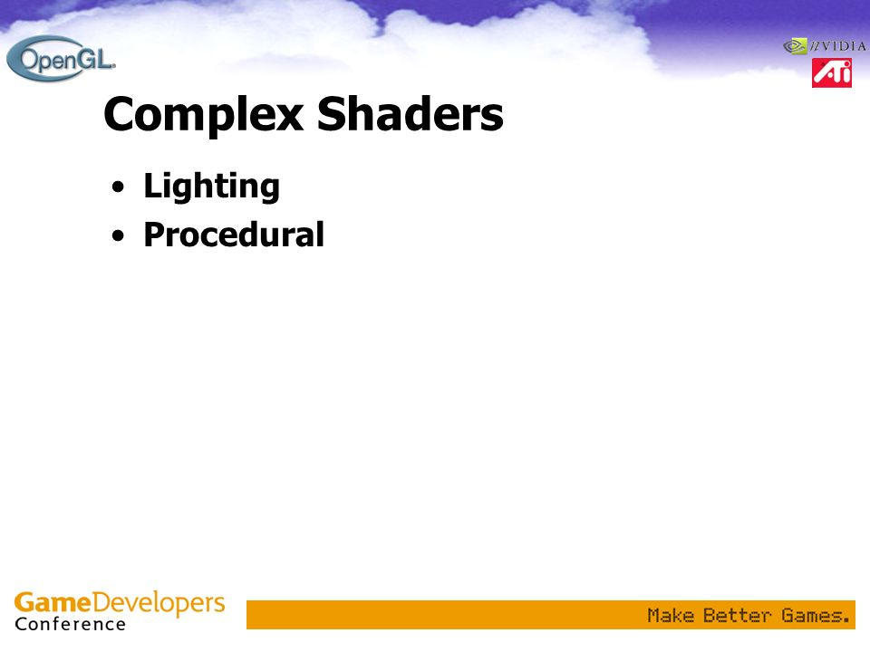 Complex Shaders Lighting Procedural