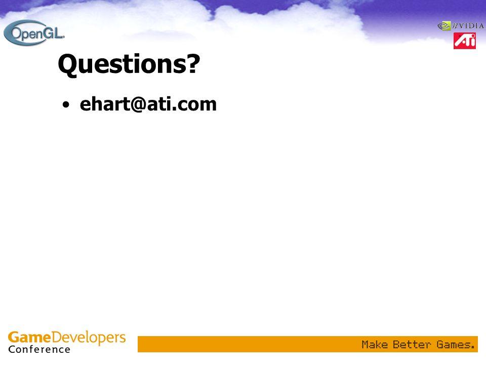 Questions ehart@ati.com