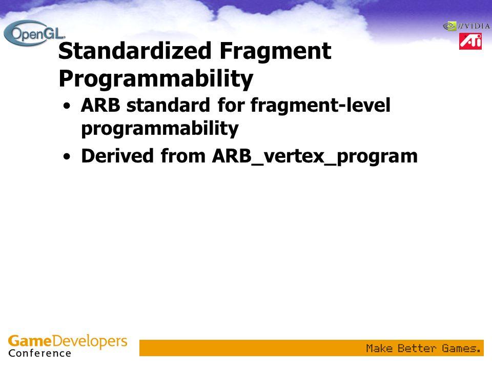 Standardized Fragment Programmability