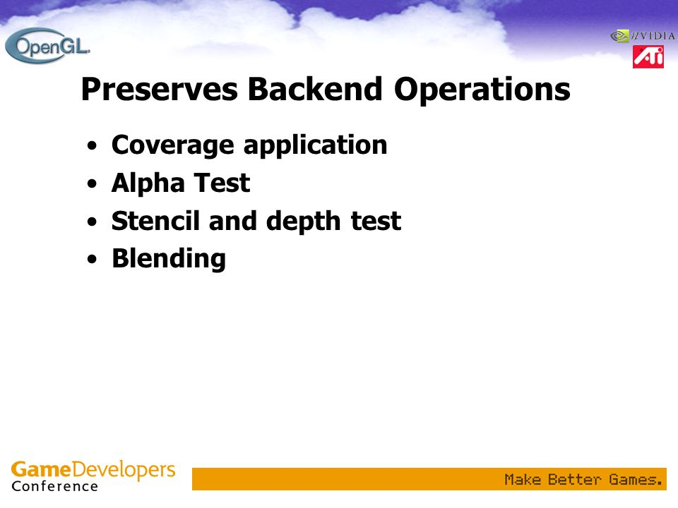 Preserves Backend Operations