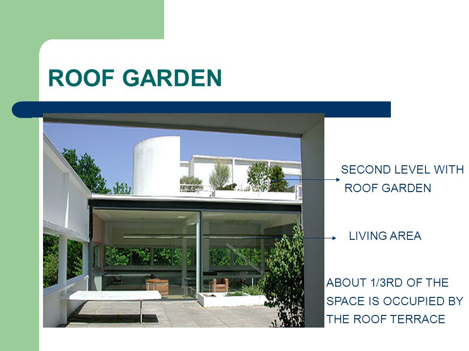 ROOF GARDEN SECOND LEVEL WITH ROOF GARDEN LIVING AREA