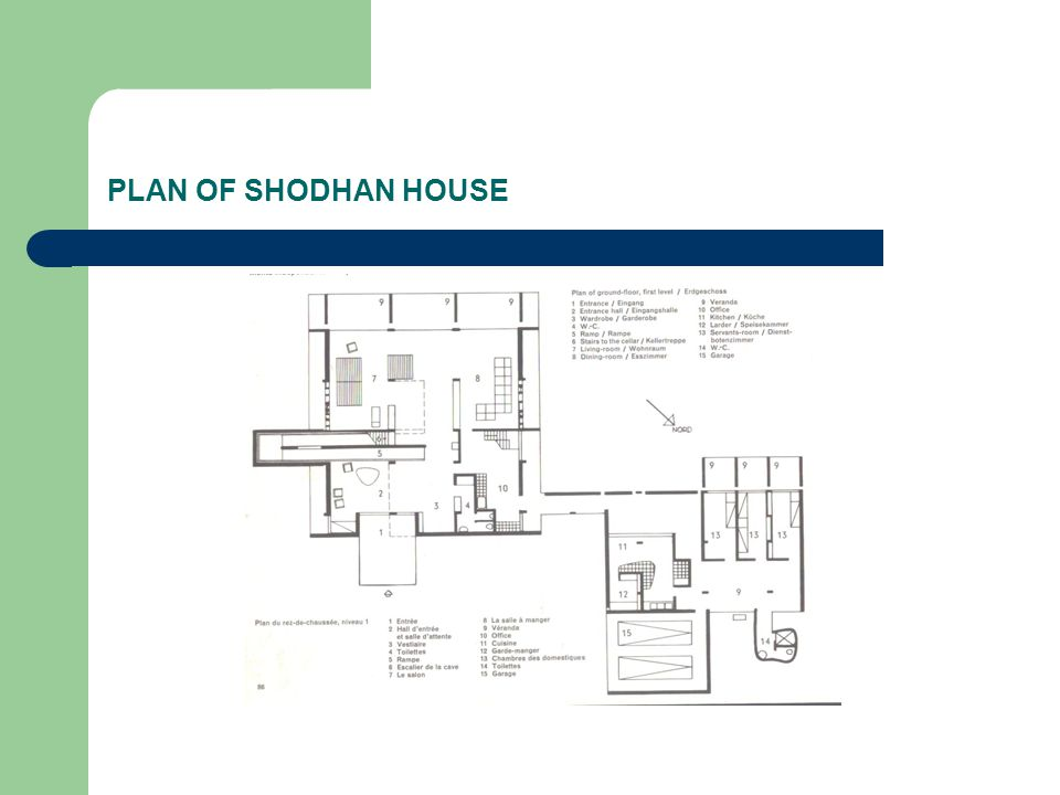 PLAN OF SHODHAN HOUSE