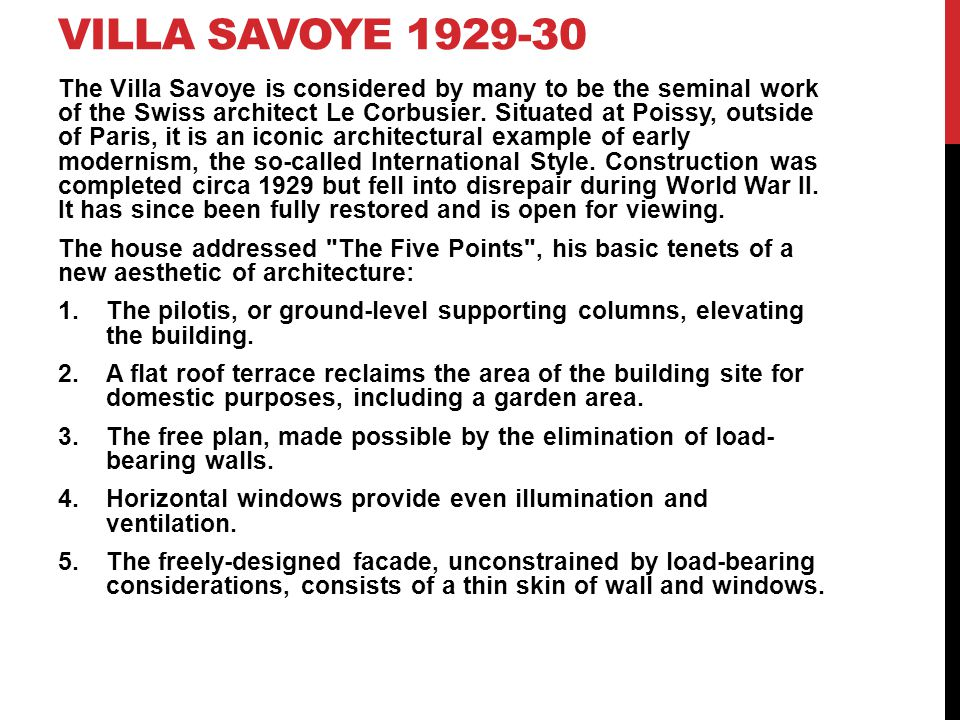 Villa savoye 1929-30