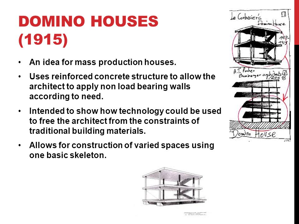 Domino Houses (1915) An idea for mass production houses.