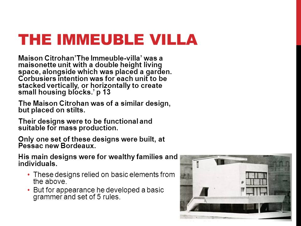 The immeuble villa