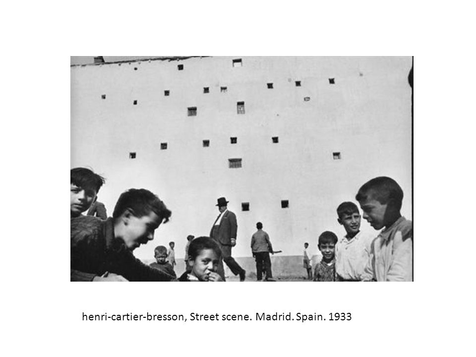 henri-cartier-bresson, Street scene. Madrid. Spain. 1933