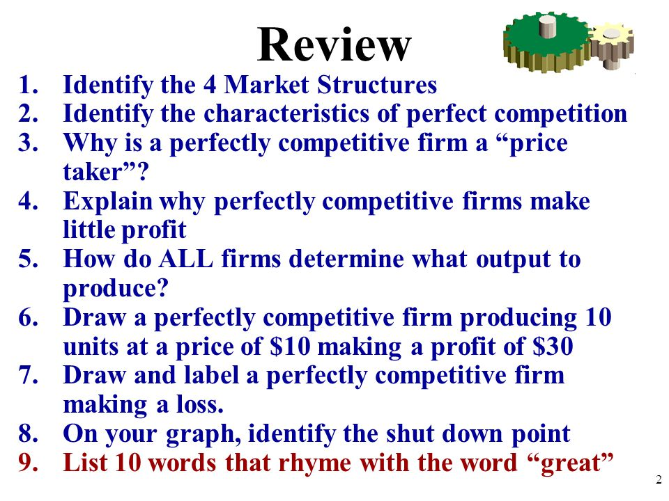 explain how market structures determine pricing and output decisions Pricing and output decisions: alternative market structures documents similar to pricing and output decisions in imperfectly competitive markets.