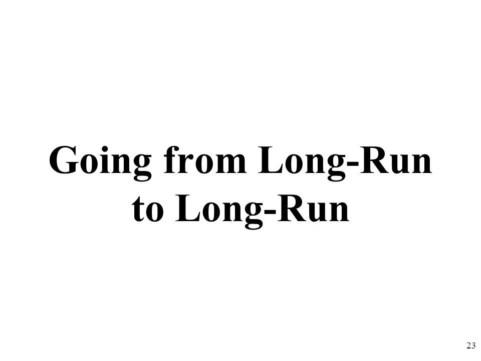 Going from Long-Run to Long-Run