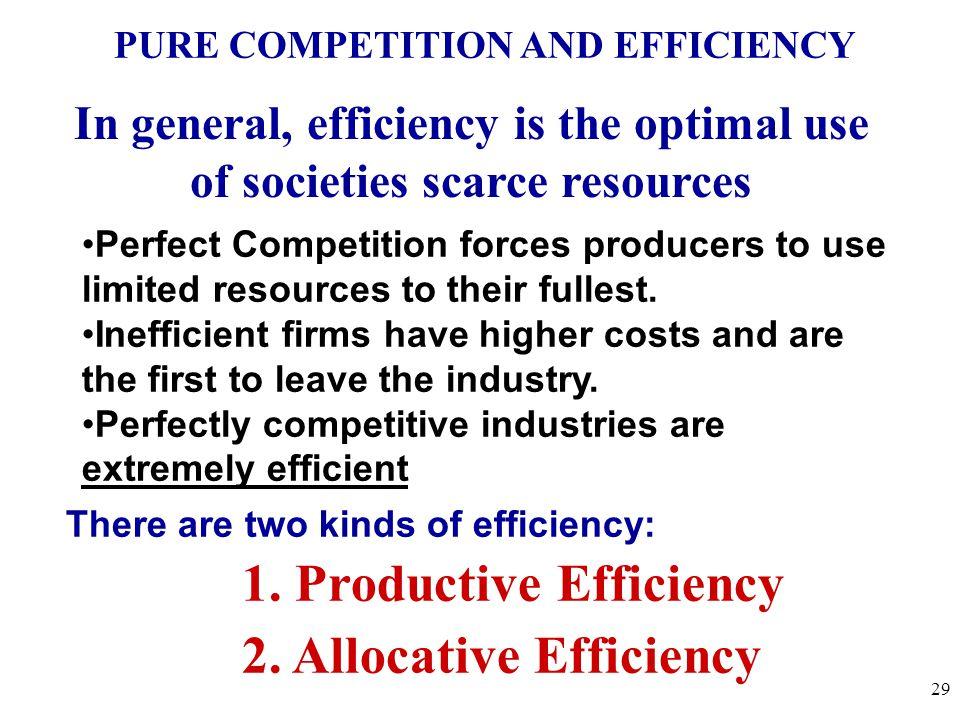 1. Productive Efficiency 2. Allocative Efficiency