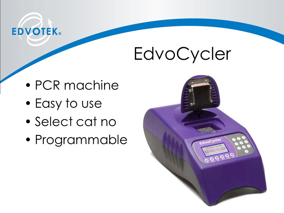 EdvoCycler PCR machine Easy to use Select cat no Programmable