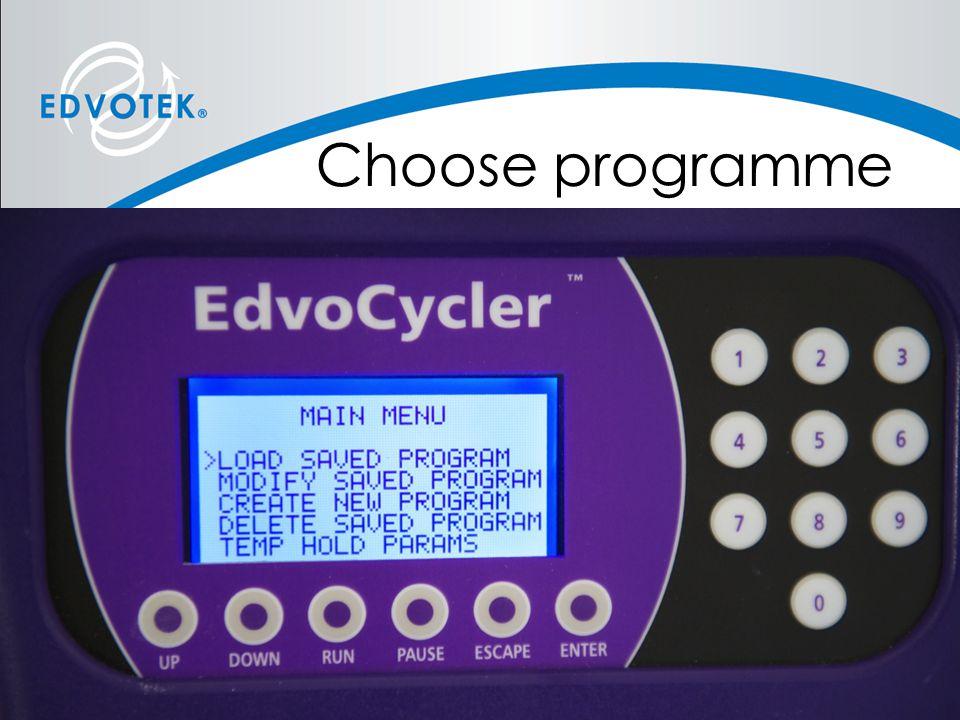Choose programme