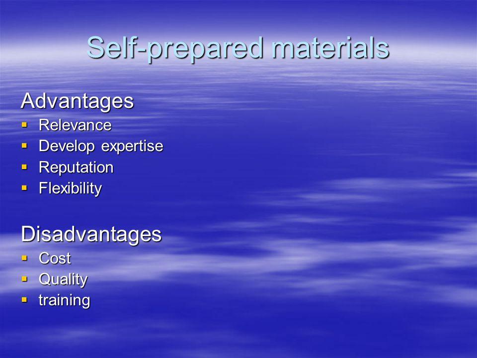 Self-prepared materials