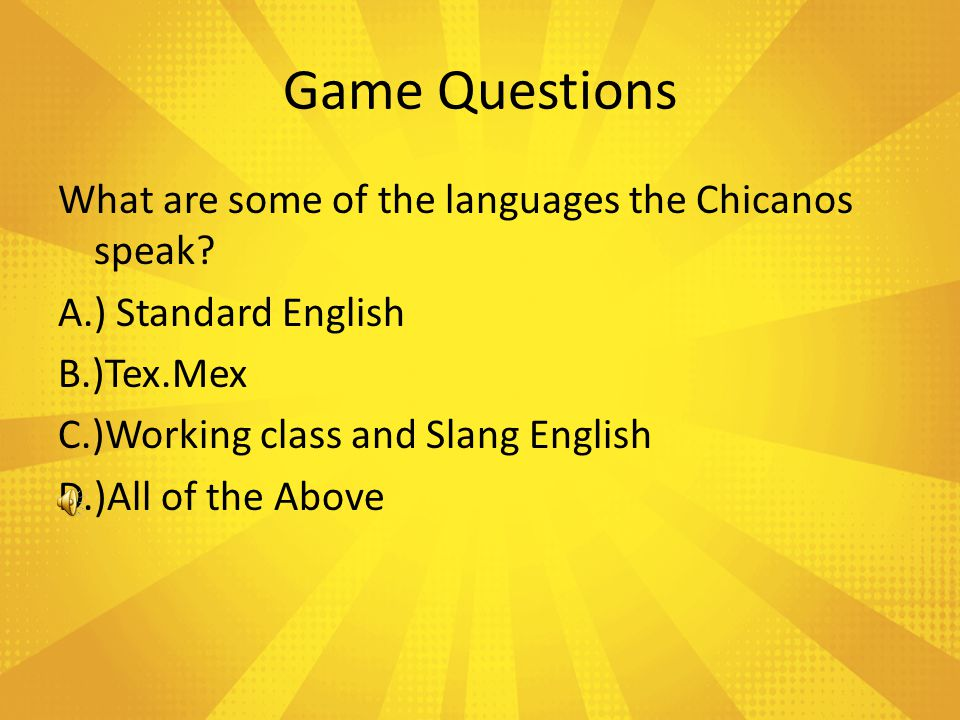 Game Questions