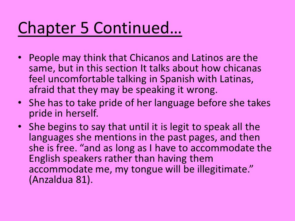Chapter 5 Continued…