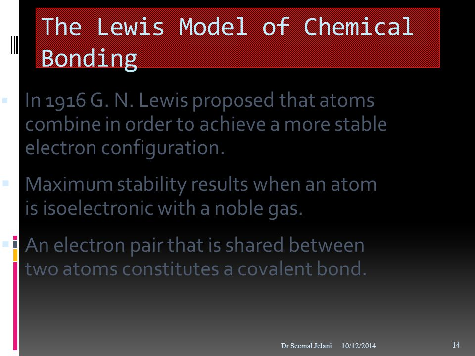 The Lewis Model of Chemical Bonding