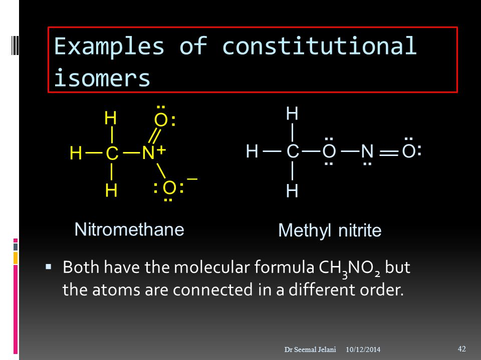 Examples of constitutional isomers