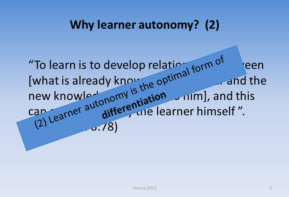 Why learner autonomy (2)