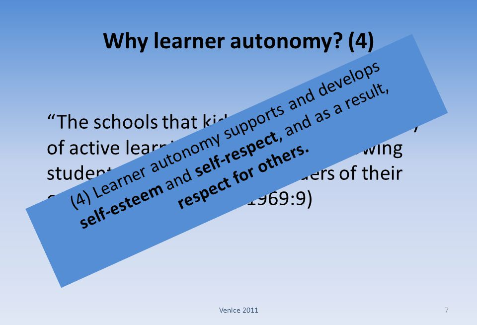 Why learner autonomy (4)