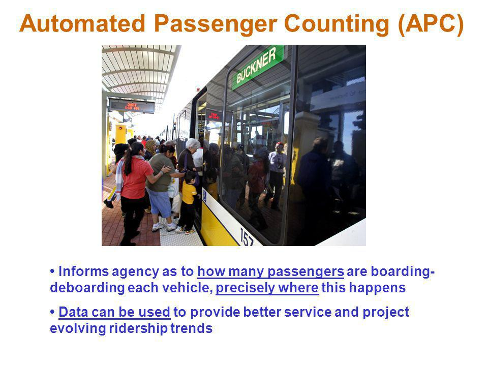Automated Passenger Counting (APC)