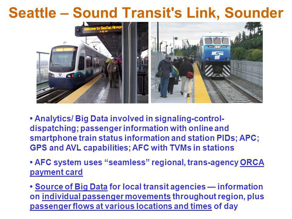 Seattle – Sound Transit s Link, Sounder