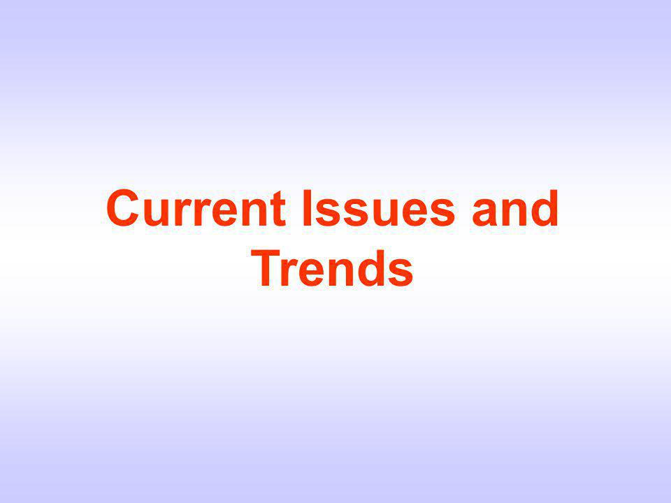 Current Issues and Trends