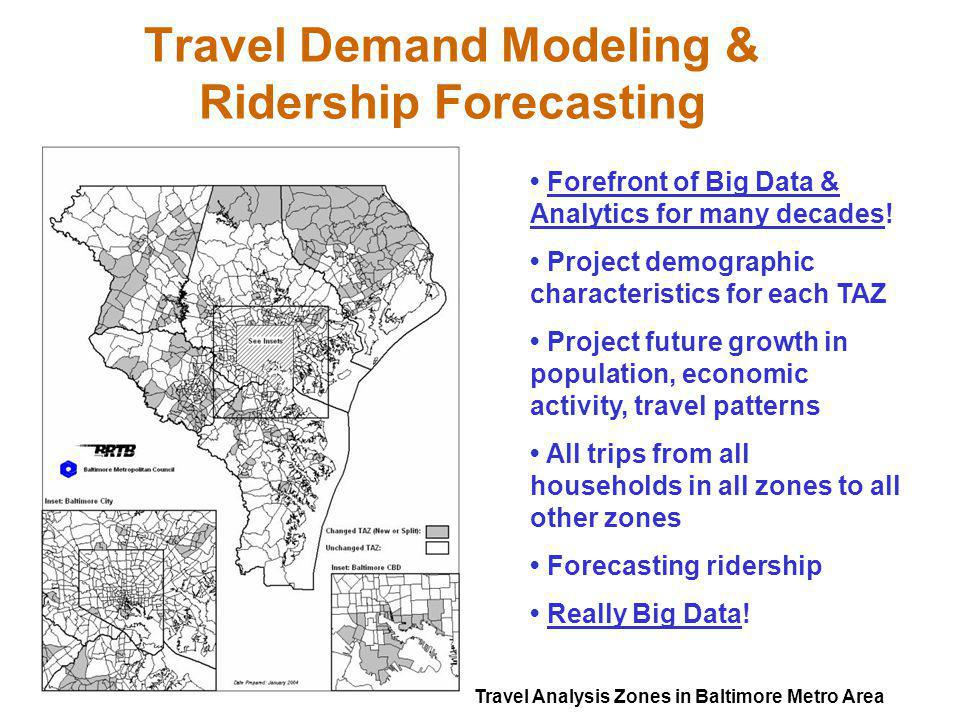 Travel Demand Modeling & Ridership Forecasting
